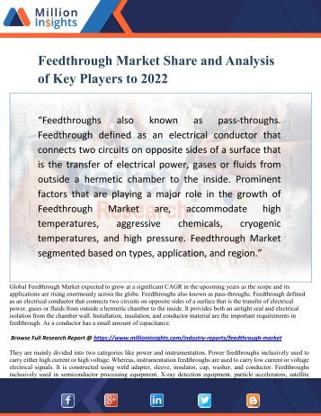 Feedthrough Market Share and Analysis of Key Players to 2022
