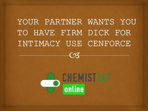 Cenforce Helps In Boosting Your Intimacy Sessions