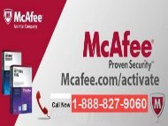 McAfee Activate | McAfee.com/Activate | 1-888-827-9060