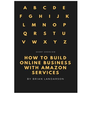 How to build online business with Amazon services