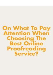 On What to Pay the Most Attention When You Choosing the Best Online Proofreading Service?