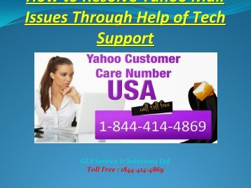 Yahoo Technical Support Number USA 1 (877) 336 9533