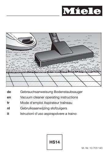 Miele Compact C2 Excellence EcoLine - SDRP3 - Istruzioni d'uso