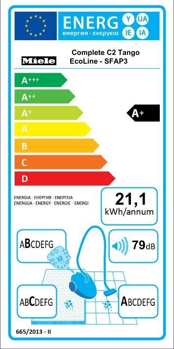 Miele Complete C3 Parquet EcoLine - SGSP3 - Energylabel_PDF