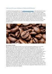 Het verschil tussen Arabica en Robusta koffiebonen