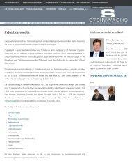 Der aktuelle, praxisorientierte Schadensersatzrechtsblog - STEINWACHS Rechtsanwaltskanzlei