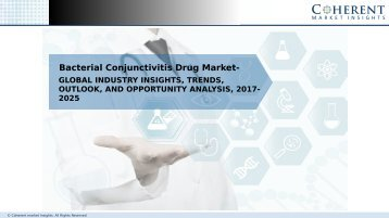 Bacterial Conjunctivitis Drug Market – Global Industry Insights, and Opportunity Analysis 2025