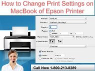 How to Change Print Settings on Mac-book of Epson Printer