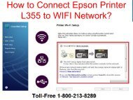 1-800-213-8289 How to Connect Epson Printer L355 to WIFI Network