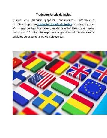 Traductor Jurado de Inglés