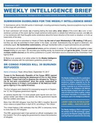 CIB Weekly Intelligence Brief Guidelines