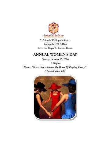 Annual Women's Day Evening Program 2017