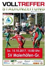 5. Ausgabe Stadionzeitung 2017/18
