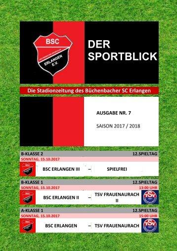 Der Sportblick (Ausgabe Nr. 07 | 17/18)