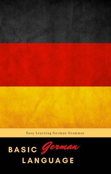 Basic German Language Free eBook