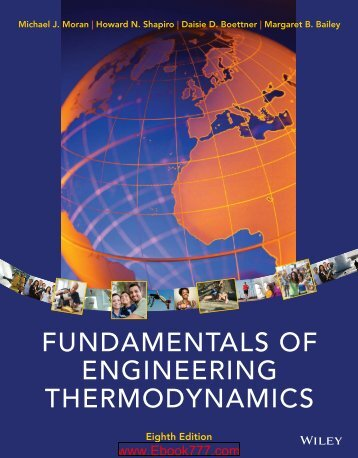 Fundamentals Of Engineering Thermodynamics (8th Edition)