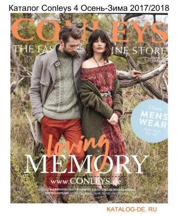 Каталог conleys 4 Осень-Зима 2017/2018.Заказывай на www.katalog-de.ru или по тел. +74955404248.