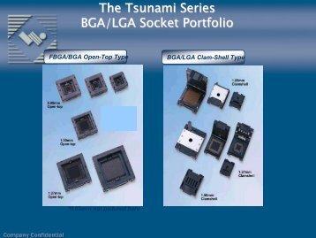 The Tsunami Series BGA/LGA Socket Portfolio - BFi OPTiLAS