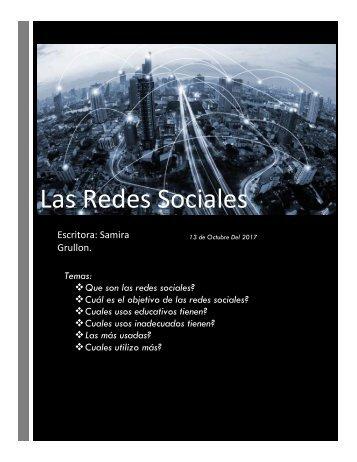 Redes sociales word.