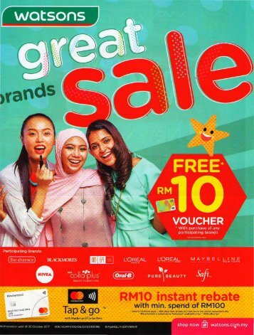 Watsons Great Brands Sale (Till 31 Oct 2017)