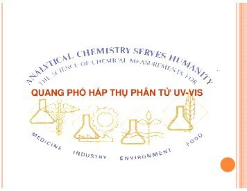 QUANG PHỔ HẤP THỤ PHÂN TỬ UV-VIS (THE SCIENCE OF CHEMICAL MEASUREMENTS)
