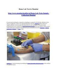 Home Lab Test in Mumbai