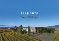 Tramonto Events Package Summer