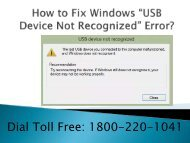 18002201041 Fix Windows USB Device Not Recognized Error