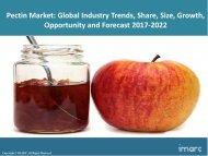 Global Pectin Market Share, Size, Volume and Forecast 2017-2022