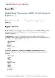 Global X-ray Fluorescence (XRF) Market Research Report 2017