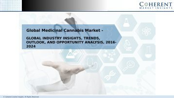 Medicinal Cannabis Market - Global Industry Insights, and Opportunity Analysis 2024