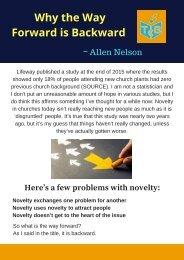Allen Nelson - Why the Way Forward is Backward
