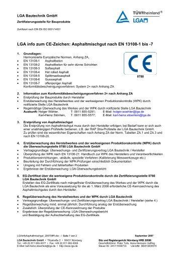 Infoblatt Asphaltmischgut - Bautechnik - LGA