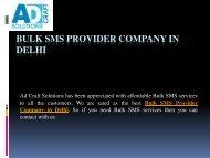 Bulk SMS Provider Company in Delhi