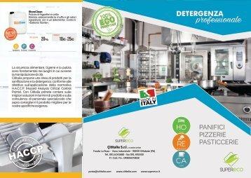 Brochure Detergenza Professionale HACCP Panifici Pizzerie Pasticcerie