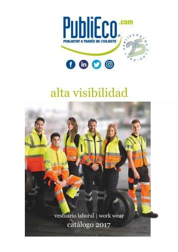Catálogo de ropa laboral alta visibilidad