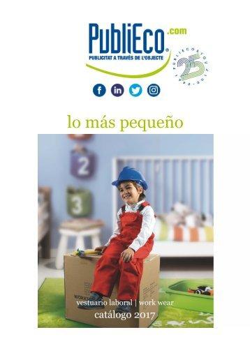 Catálogo ropa laboral para los mas pequeños