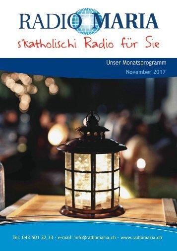 Radio Maria Schweiz - November 2017