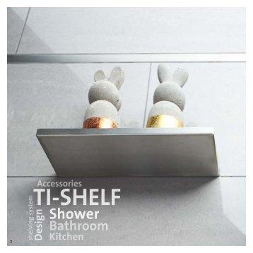 Befliesbare Ablagen aus Edelstahl für Dusche,  Bad und Wohnbereich.en für Wand und Boden