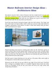 Master Bedroom Interior Design Ideas - Architectures Ideas