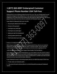 1 (877) 363-0097 Embarqmail customer support phone number