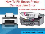 How To Fix Epson Printer Carriage Jam Error