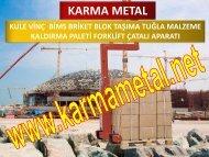 KARMA METAL-Kaldirma Ekipmani Modelleri ve Fiyatlari Palet Kaldirma Catali cesitleri