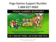 Pogo Games Support Number 1-888-827-9060