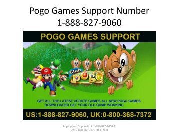 Pogo Games Support Number 1-888-827-9060