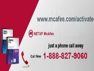 McAfee.com/Activate   McAfee Activate   1-888-827-9060