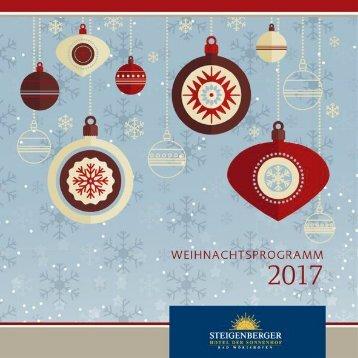 Weihnachtsprogramm 2017