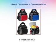 Beach Can Cooler in Australia - Chameleon Print