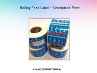 Boiling Food Label in Australia - Chameleon Print