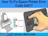 How To Fix Epson Printer Error Code 0x91